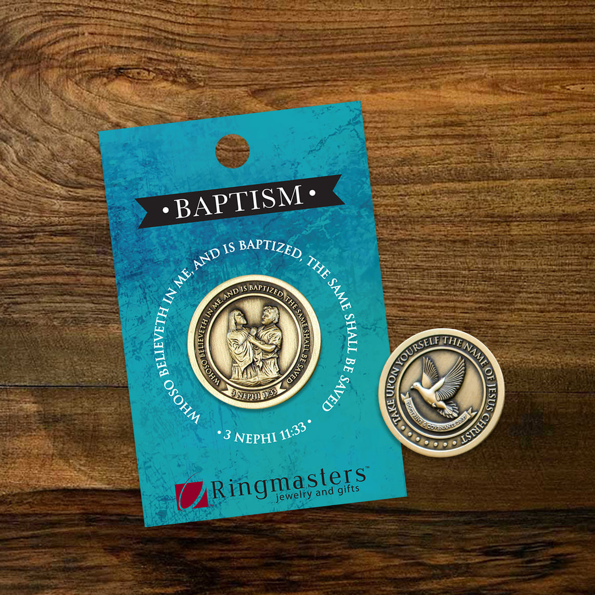 Boy Baptism Collectible challenge coin Latter-day saint baptism gift