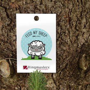Feed My Sheep Enamel Pin
