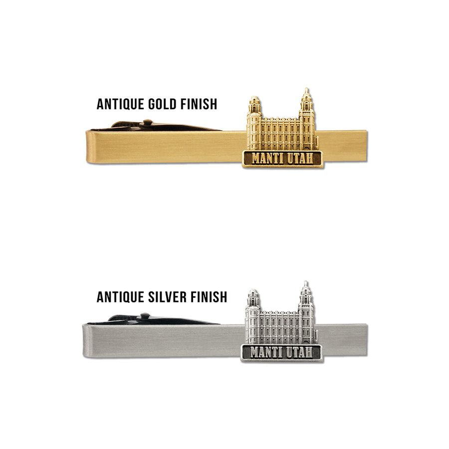 Manti Utah Temple Tie Bar