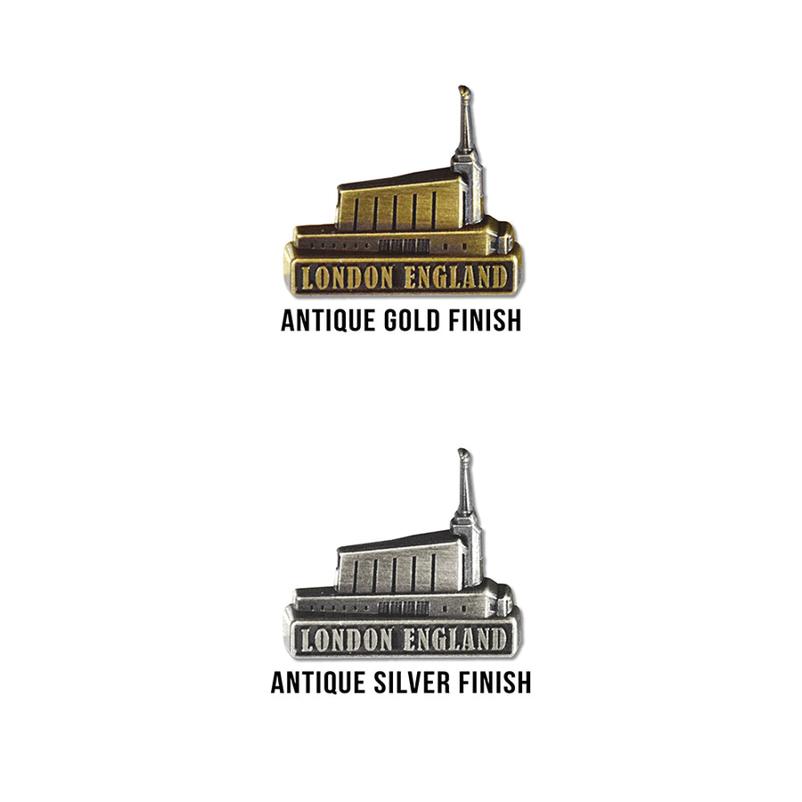 London England Temple Pin