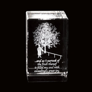 Lehi's Dream Laser-Engraved Crystal Cube