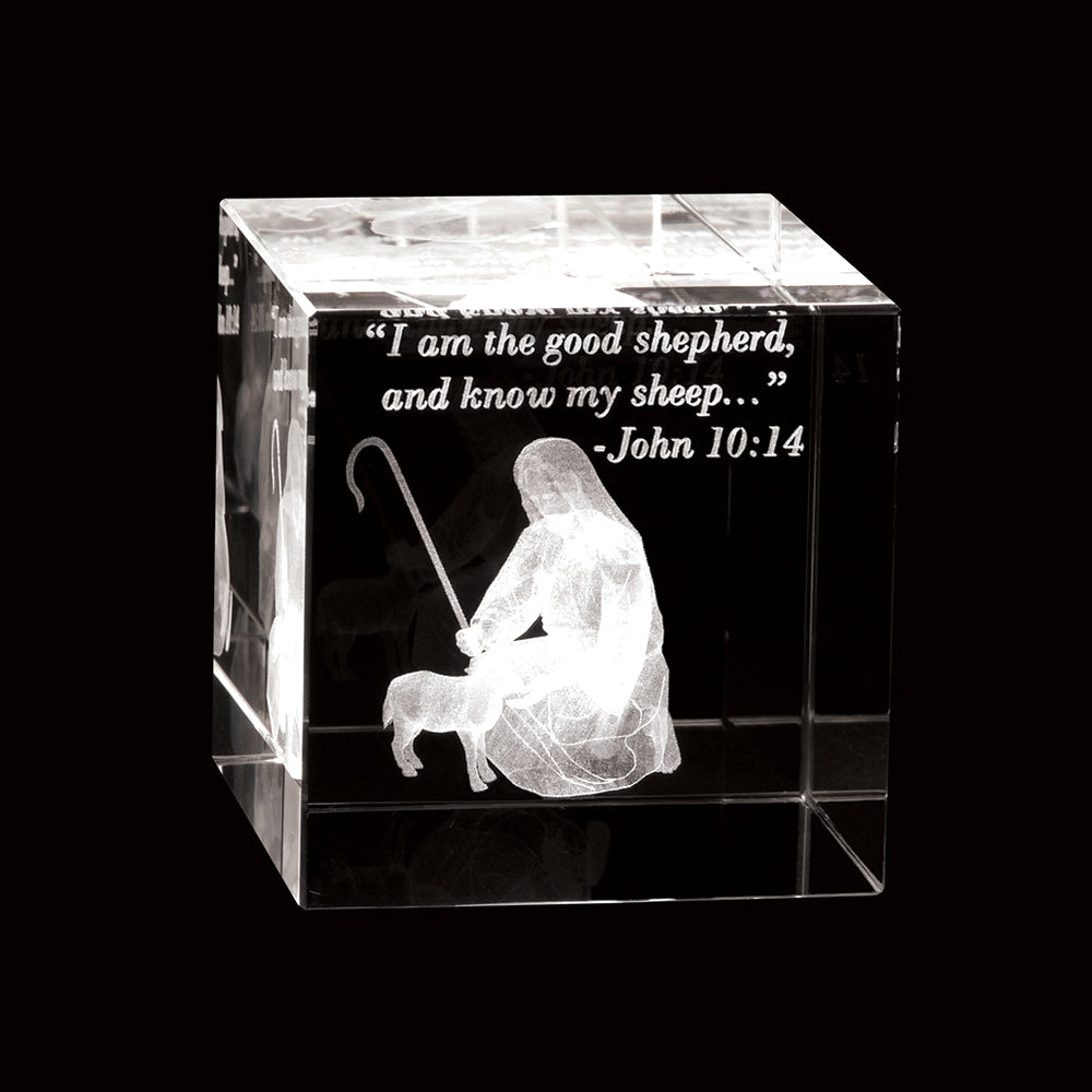 The Good Shepherd Crystal Cube