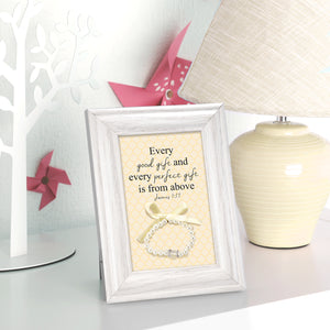 Baby Girl Blessing Gift - frame with keepsake bracelet