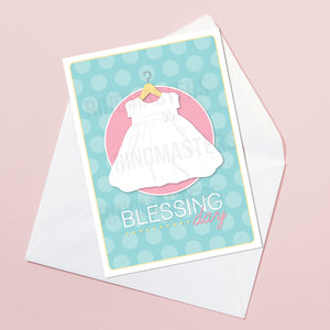 Girl Baby Blessing Greeting Card