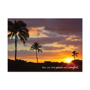 Tropical Sunset Sympathy Card