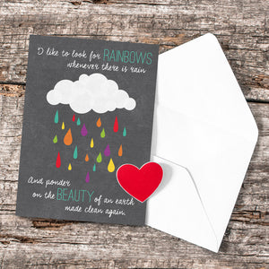 Baptism Rainbow Greeting Card