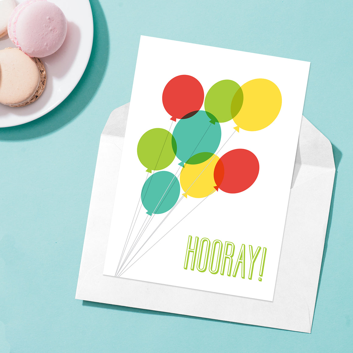 Baptism Balloons Greeting Card