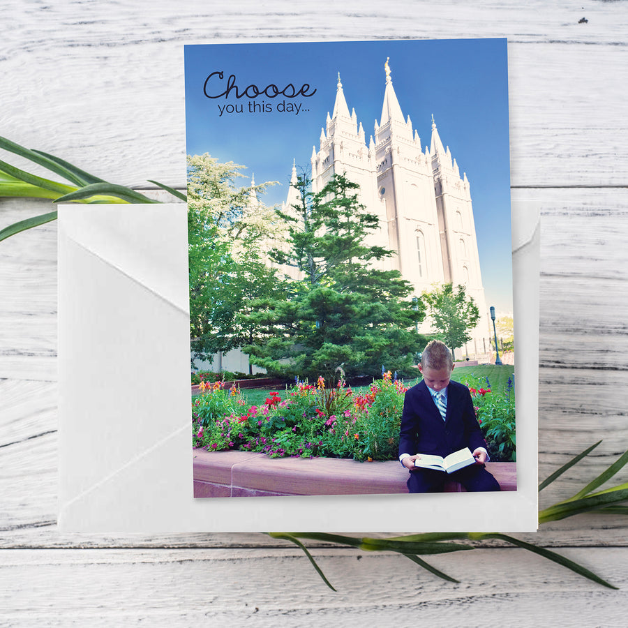 Baptism Choose You This Day Greeting Card