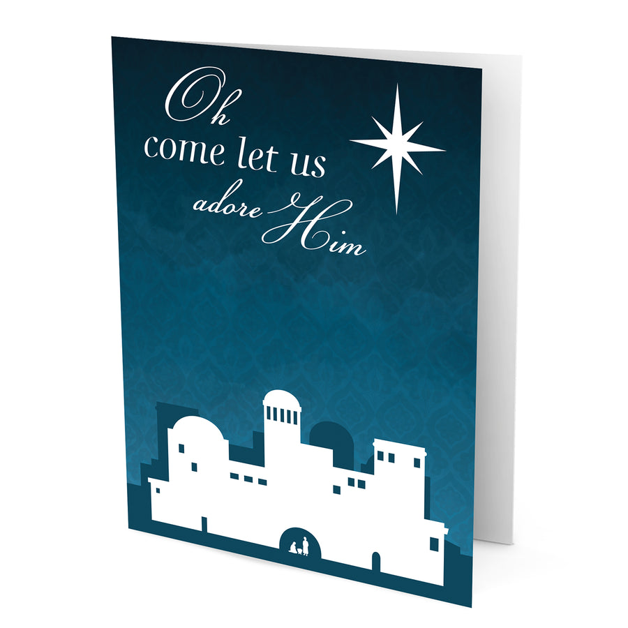 Oh Come Let Us Adore Him Greeting Card