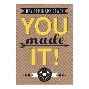Seminary Graduation Card