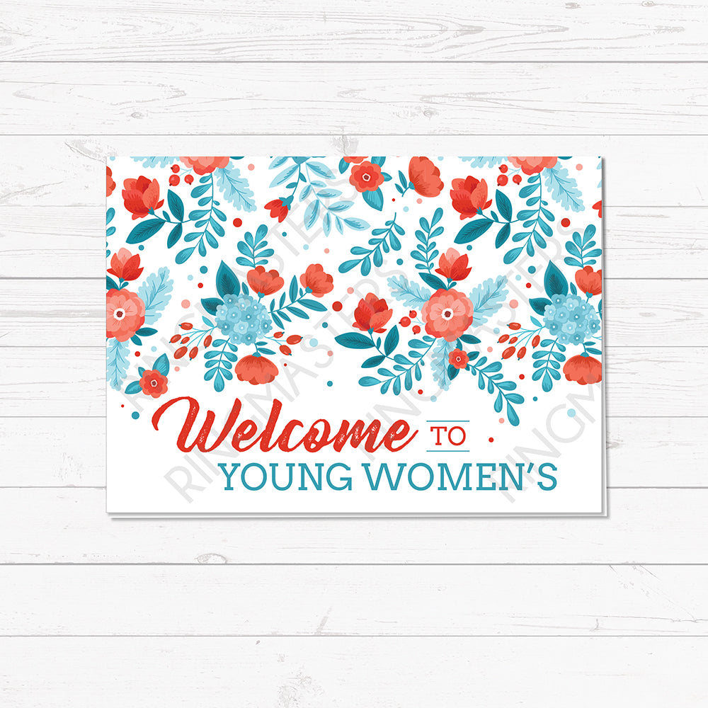 Young Women Welcome Greeting Card
