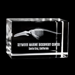 Seymour Discovery Center Laser-Engraved Crystal Cube