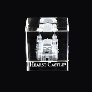 Hearst Castle Laser-Engraved Crystal Cube