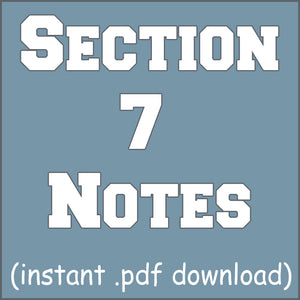Section 7 Notes - The Quantum Mechanical View of the Atom and Periodicity
