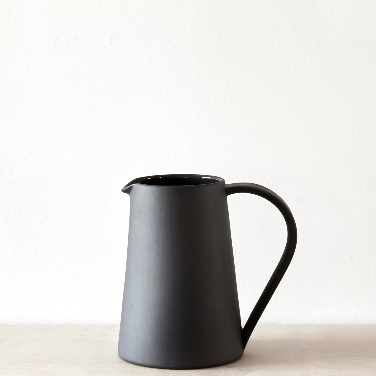Pottery Pitcher - Black Stoneware