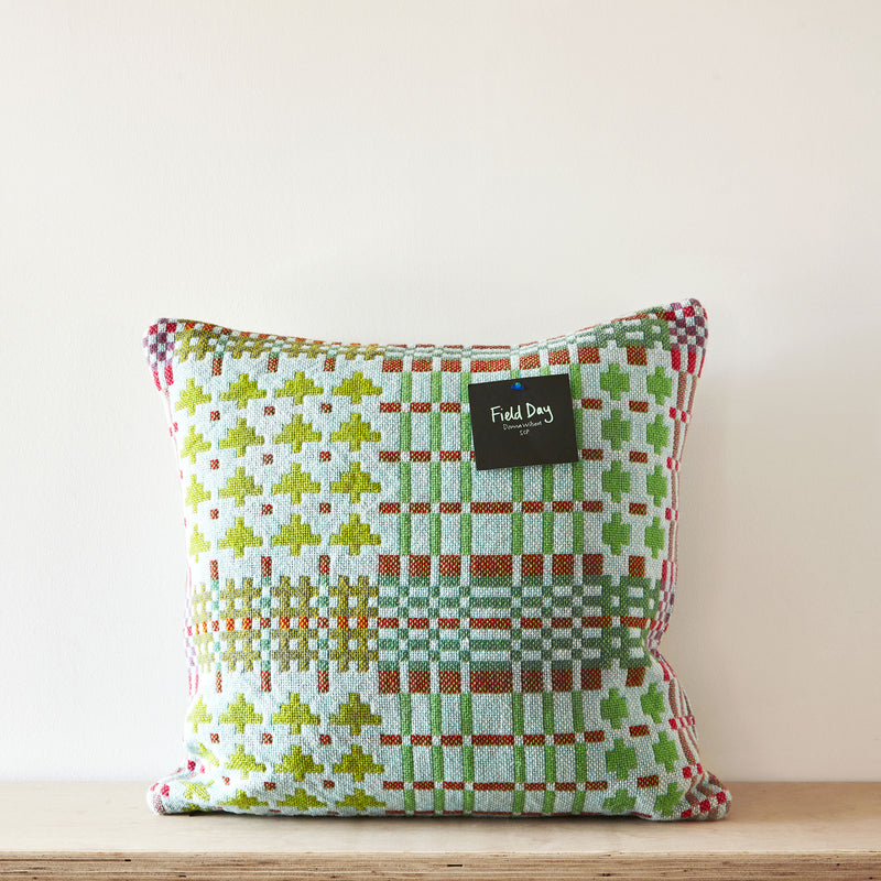 Field Day cushion - dewdrop