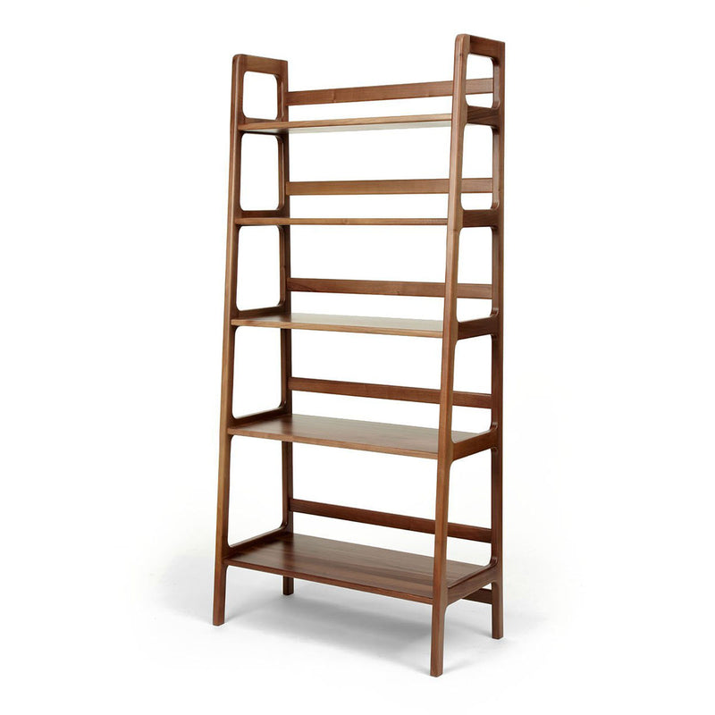 Agnes high shelving unit - walnut