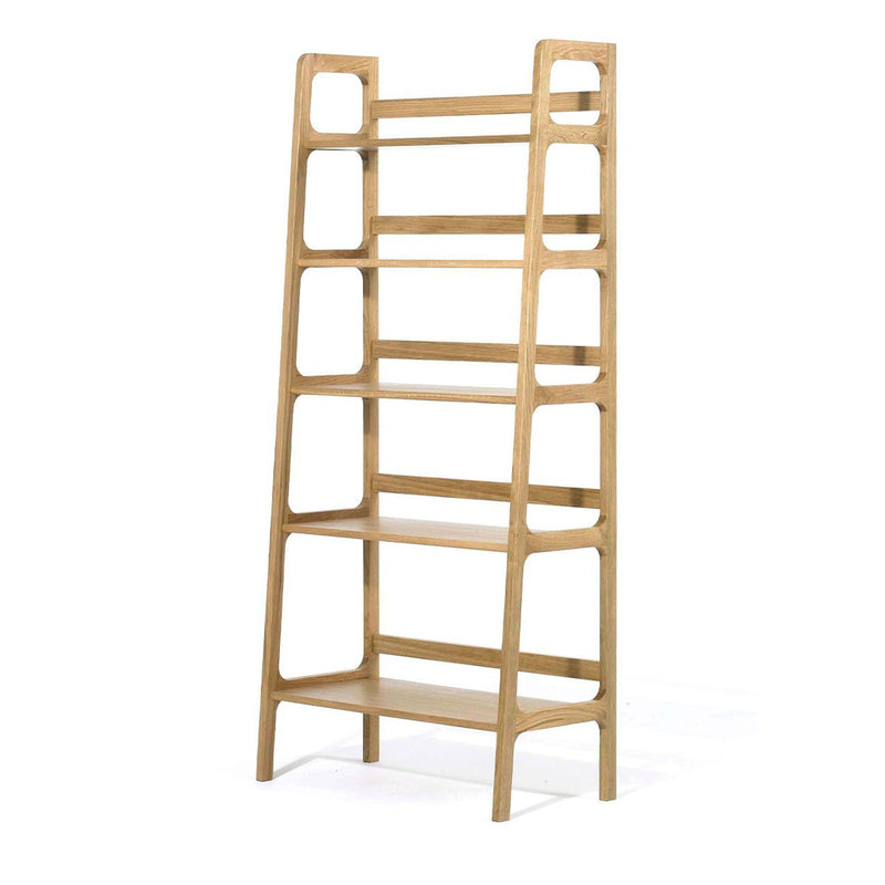 Agnes high shelving unit - oak
