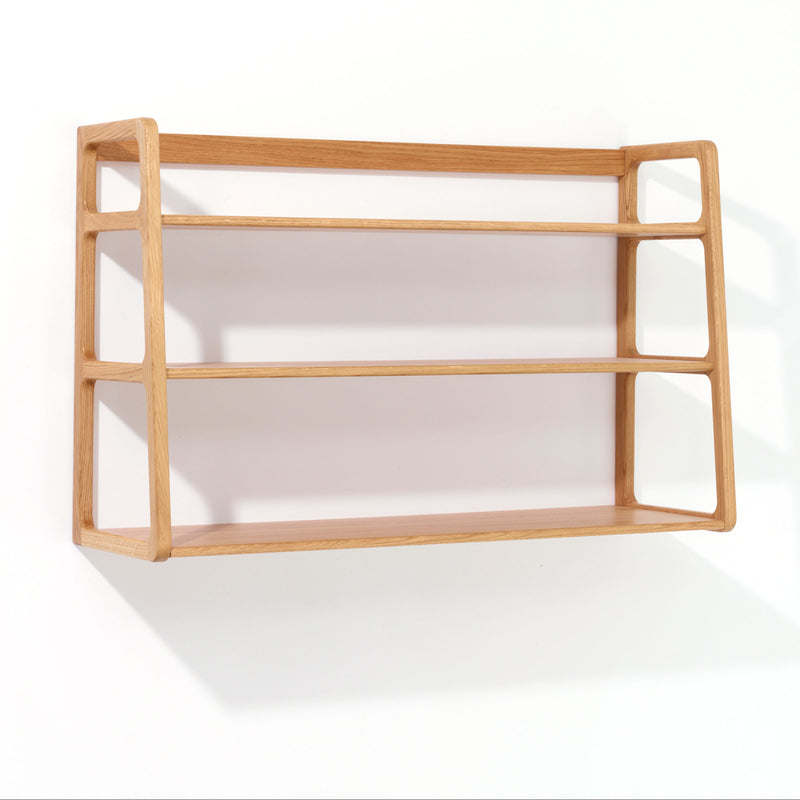 Agnes wall mounted shelving unit - oak