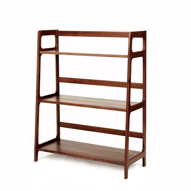 Agnes medium shelving unit - walnut