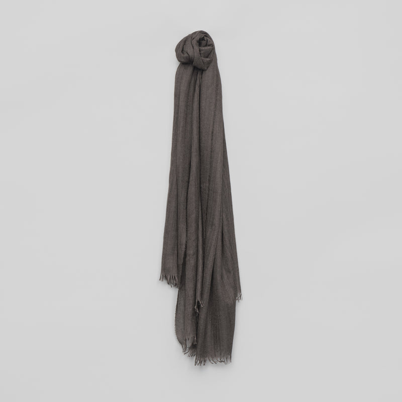 Staffa Plain Cashmere Silk Scarf – Bark