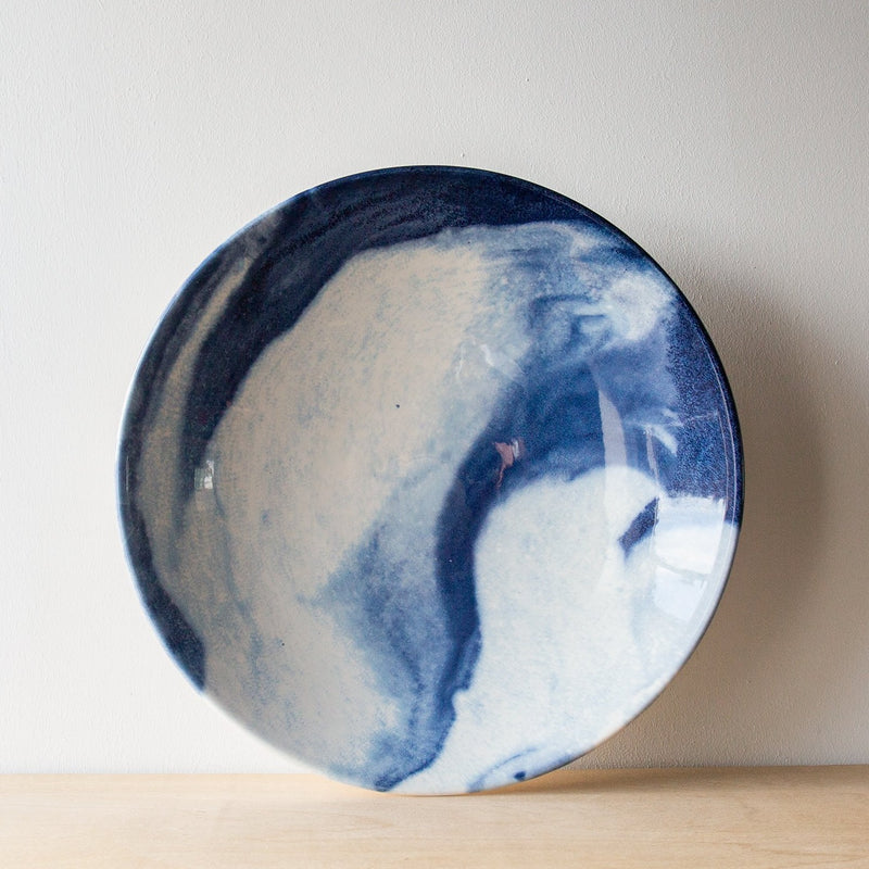 Indigo Storm large serving bowl