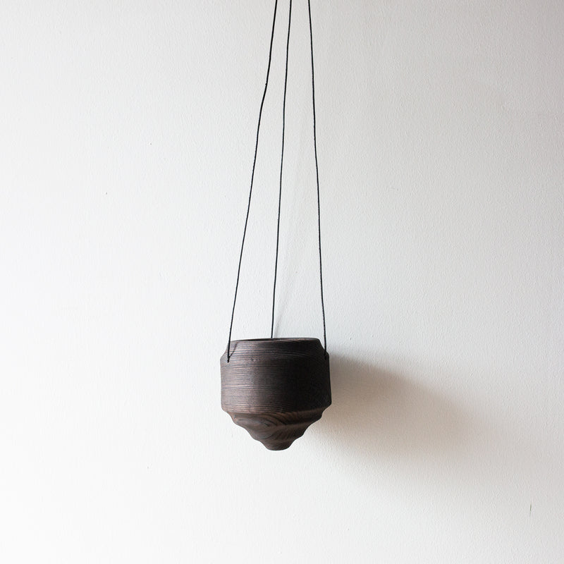 Hanging planter - scorched pine