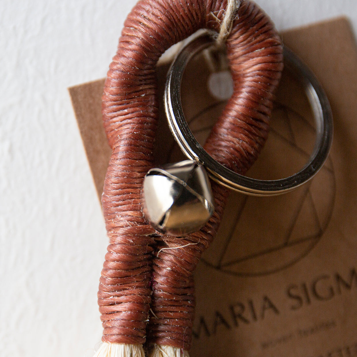 Maria Sigma Keyring - brown