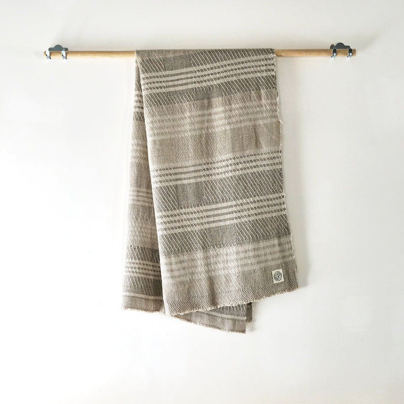 White stripe throw