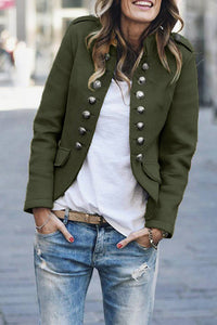 Molydress Buttons Design Army Green Coat (5 Colors)