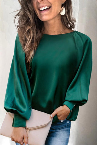 Molydress Basic Loose Green Blouse