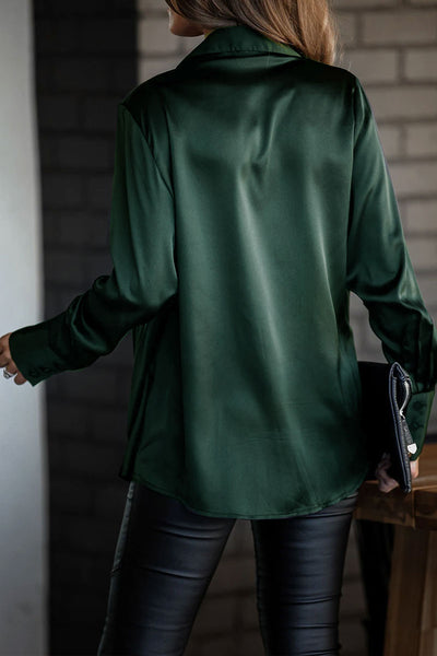 Molydress Cross-over Design Green Blouse