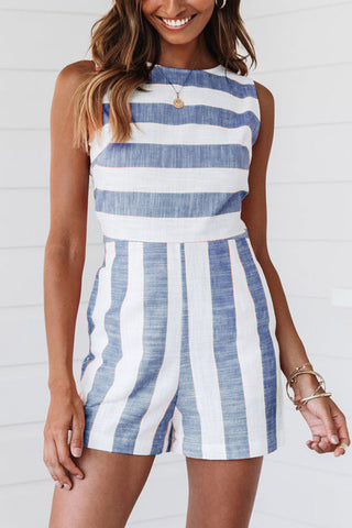 Molydress Casual Striped Romper (4 Colors)