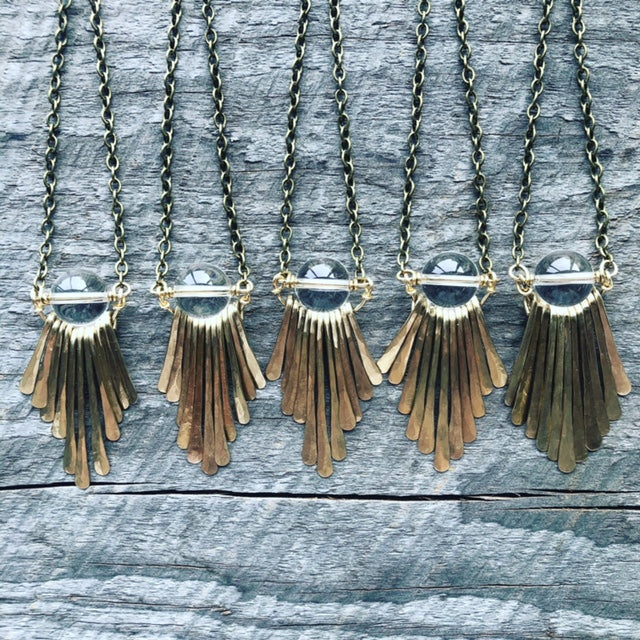 Quartz Fringe Necklace