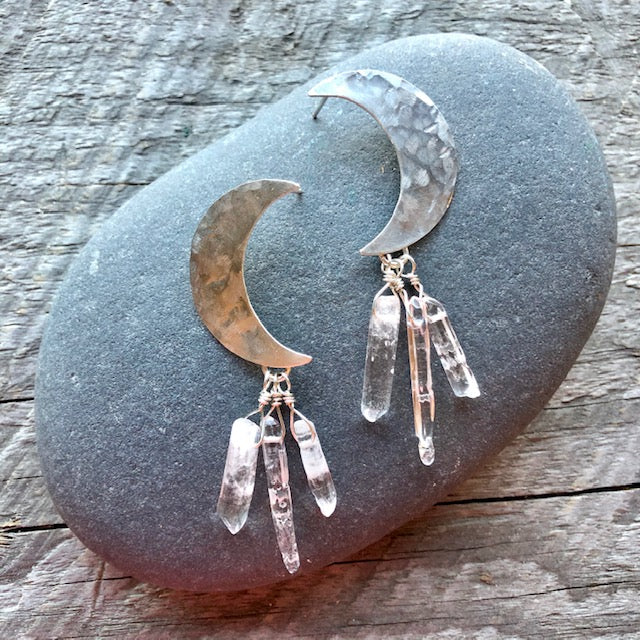 Moon Quartz Earrings