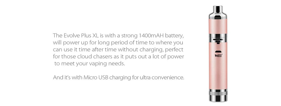 1400 mAh Battery with USB Charging