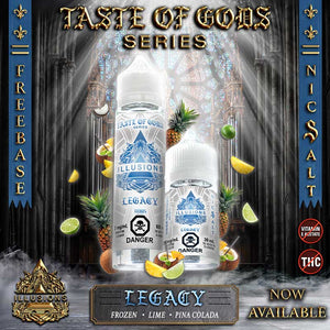 Taste of Gods LEGACY by Illusions Nic Salts Juice - Bay Vape