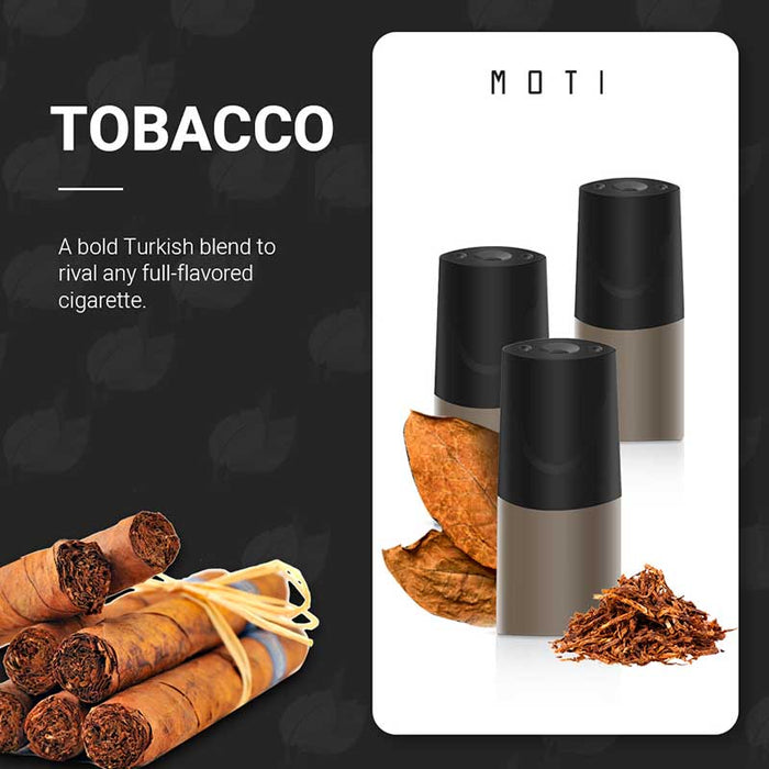 MOTI Vape Pre-Filled Replacement Pod - Tobacco