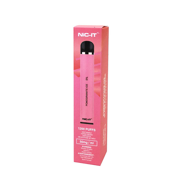 NiC-IT XL Disposable Vape Device - Pomegranate Ice
