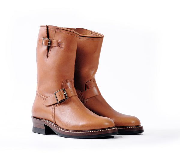 【PRE-ORDER】<br>ENGINEER BOOTS <br> BADALASSI CARLO LEATHER COGNAC
