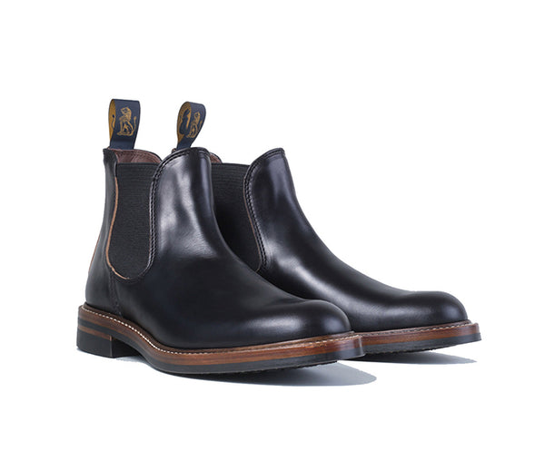 【PRE-ORDER】<br> CHELSEA BOOTS <br> HORWEEN LEATHER CXL BLACK