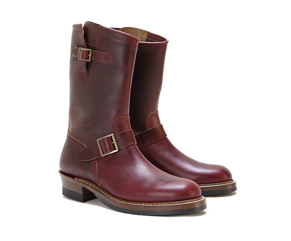 ENGINEER BOOTS <br> HORWEEN LEATHER CXL BURGUNDY