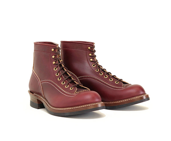 DONKEY PUNCHER BOOTS <br> HORWEEN LEATHER CXL BURGUNDY<br>