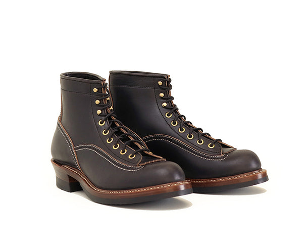 DONKEY PUNCHER BOOTS <br> HORWEEN LEATHER CXL BLACK<br>