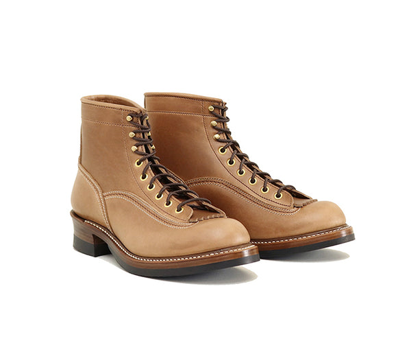 DONKEY PUNCHER BOOTS <br> HORWEEN LEATHER CXL NATURAL<br>