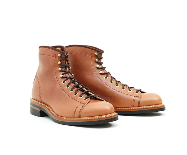 MONKEY BOOTS <br> HORWEEN LEATHER CAVALIER WHISKEY