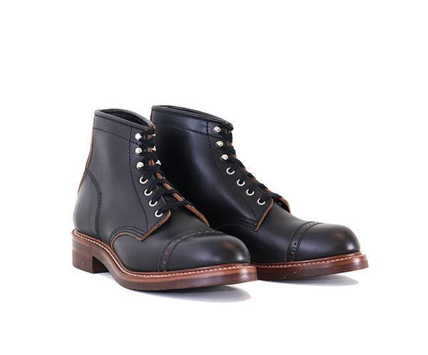 COMBAT BOOTS <br> HORWEEN LEATHER CXL BLACK<br>