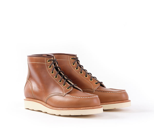 MOC TOE BOOTS <br> HORWEEN LEATHER CAVALIER WHISKEY