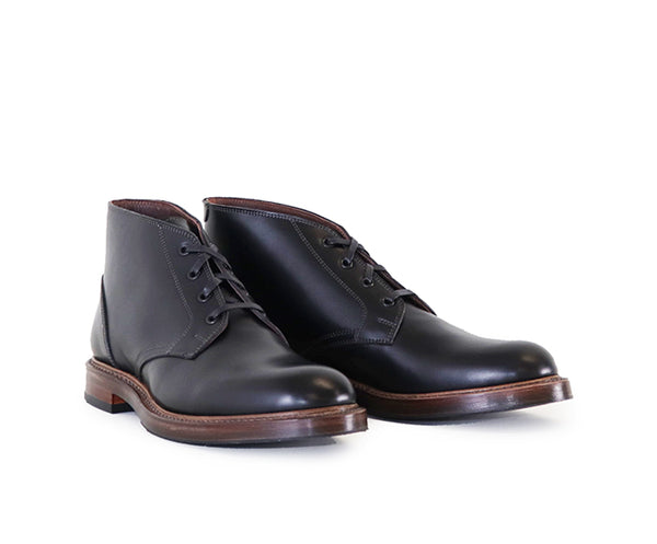 THE STEADFAST CHUKKA BOOTS <br> FRENCH CALFSKIN BLACK