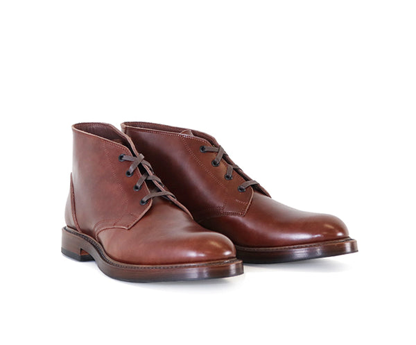 THE STEADFAST CHUKKA BOOTS <br> FRENCH CALFSKIN BROWN
